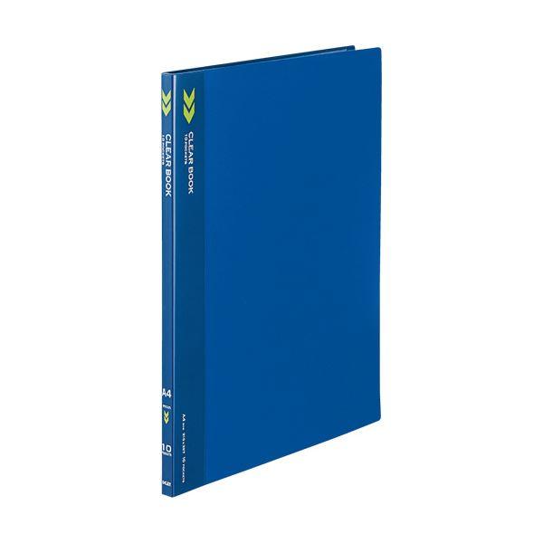 (まとめ) コクヨ クリヤーブック(クリアブック)(K2)固定式 A4タテ 10ポケット 背幅11mm 中紙なし 青 K2ラ-K10B 1冊 【×50セット】