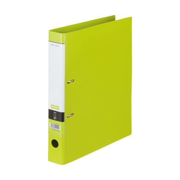 (まとめ) TANOSEE DリングファイルA4タテ 2穴 280枚収容 背幅45mm ライトグリーン 1冊 【×30セット】