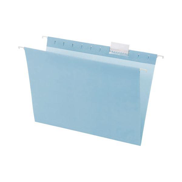 (まとめ) TANOSEE ハンギングフォルダーA4 ブルー 1セット(10冊:5冊×2パック) 【×10セット】