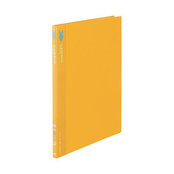 (まとめ) コクヨ クリヤーブック(クリアブック)(K2)固定式 A4タテ 10ポケット 背幅11mm 中紙なし オレンジ K2ラ-K10YR 1冊 【×50セット】