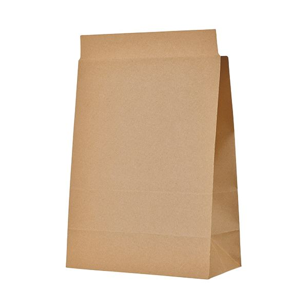 (まとめ)TANOSEE 宅配袋 マチ広 大 茶封かんテープ付 1パック(100枚)【×3セット】