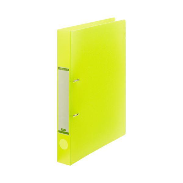 (まとめ) TANOSEEDリングファイル(半透明表紙) A4タテ 2穴 200枚収容 背幅38mm グリーン 1セット(10冊) 【×10セット】