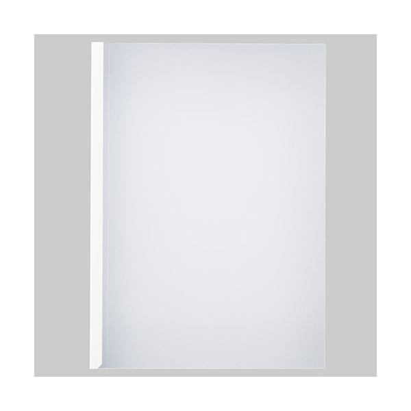 (まとめ) TANOSEE 薄型スリムレールホルダーA4タテ 20枚とじ 白 1パック(30冊) 【×10セット】