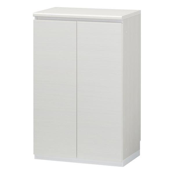 シューズラック/下駄箱 【ホワイト】 幅602mm 日本製 洗える棚板 扉付き収納 組立式 『ポルターレエントランス』 〔玄関〕【代引不可】