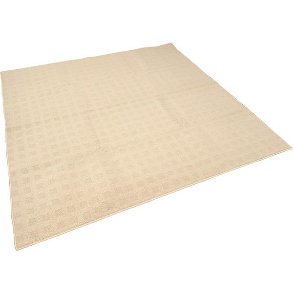 カーペット ラグ 平織 レベルループ / 約5.1畳 240×330cm ベージュ クロス 九装