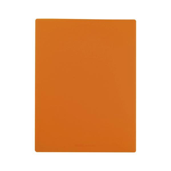(まとめ) ビュートンジャパン ファイルデラックス A4 2ポケット オレンジ【×50セット】