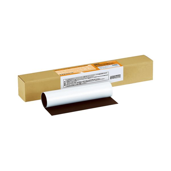 (まとめ)コクヨ マグネットシート つやあり250×400mm 白 マク-302-1W 1本【×5セット】