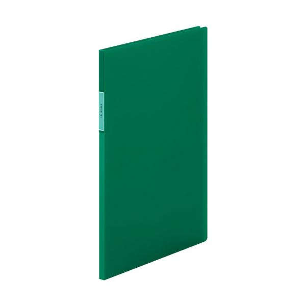 (まとめ) キングジム FAVORITESクリアーファイル(透明) A4タテ 10ポケット 背幅10mm 緑 FV166THミト 1冊 【×30セット】