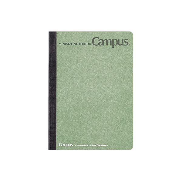 (まとめ)コクヨ キャンパスノート(ミニサイズ)A6 56枚 表紙緑 ノ-226BN-G 1セット(10冊)【×5セット】
