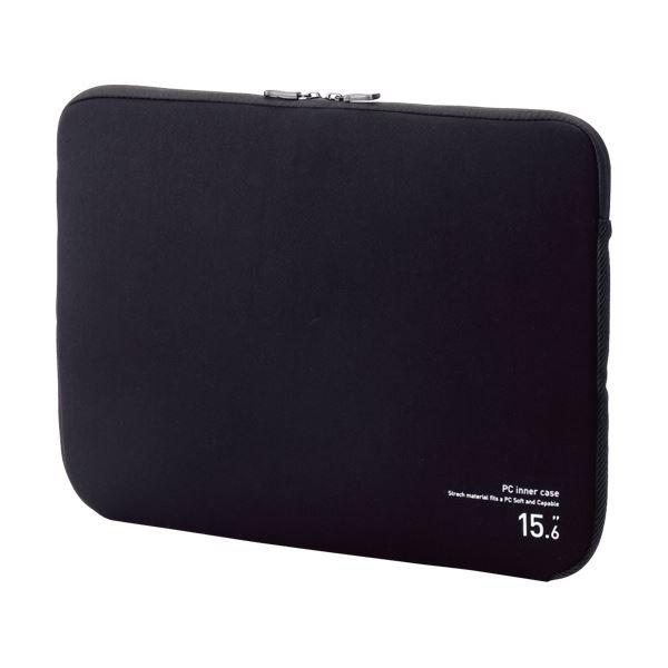(まとめ) エレコム ネオプレンPCインナーバッグ15.6インチノートPC対応 ブラック BM-IBNP15BK 1個 【×10セット】