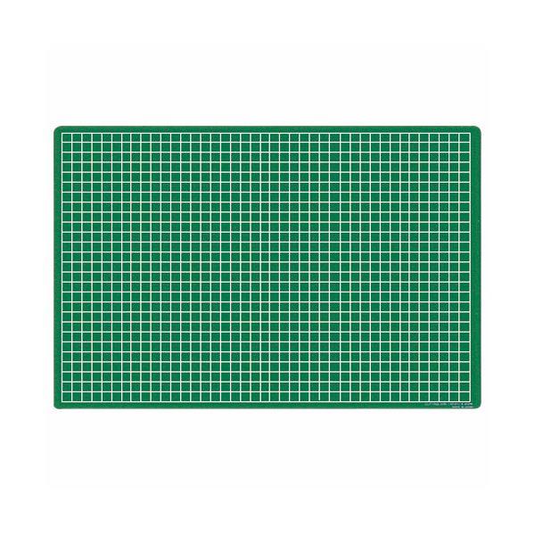 (まとめ) ライオン事務器 カッティングマット再生オレフィン製 両面使用 450×300×3mm グリーン CM-45S 1枚 【×10セット】