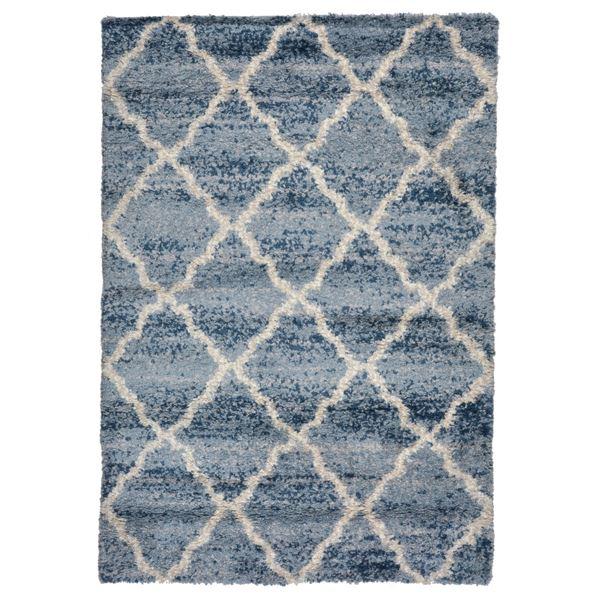 北欧風 ラグマット/絨毯 【140cm×200cm モロッコ】 長方形 高耐久 ウィルトン 『QUEEN クィーン』 〔リビング〕【代引不可】