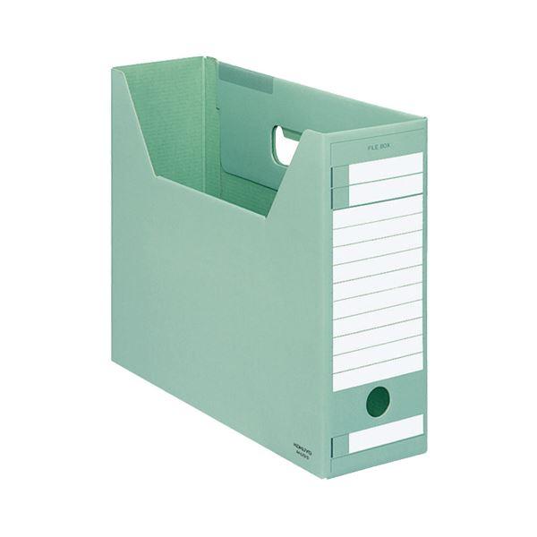 (まとめ) コクヨ ファイルボックス-FS(Dタイプ) A4ヨコ 背幅102mm 緑 A4-LFD-G 1セット(5冊) 【×10セット】
