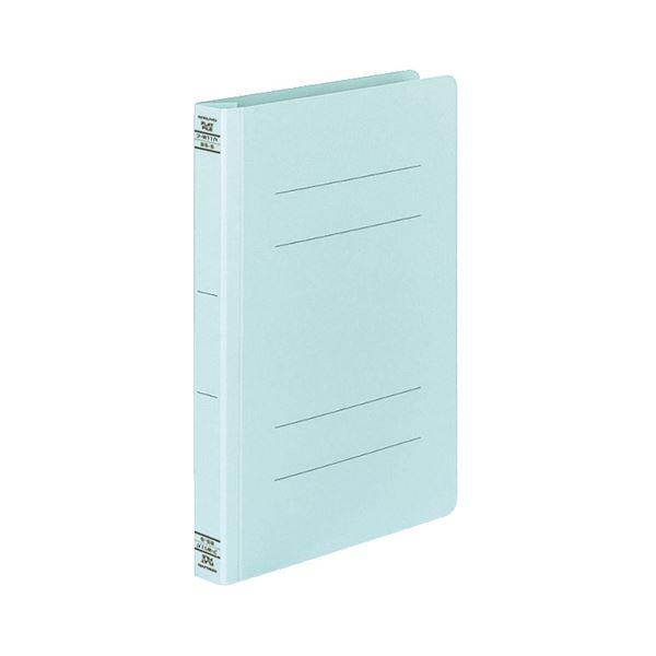 (まとめ) コクヨ フラットファイルW(厚とじ)B5タテ 250枚収容 背幅28mm 青 フ-W11NB 1セット(10冊) 【×10セット】