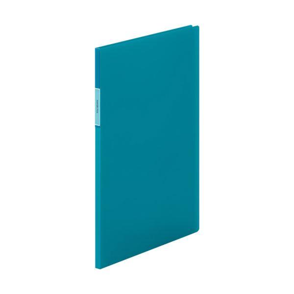 (まとめ) キングジム FAVORITESクリアーファイル(透明) A4タテ 10ポケット 背幅10mm 青 FV166THアオ 1冊 【×30セット】