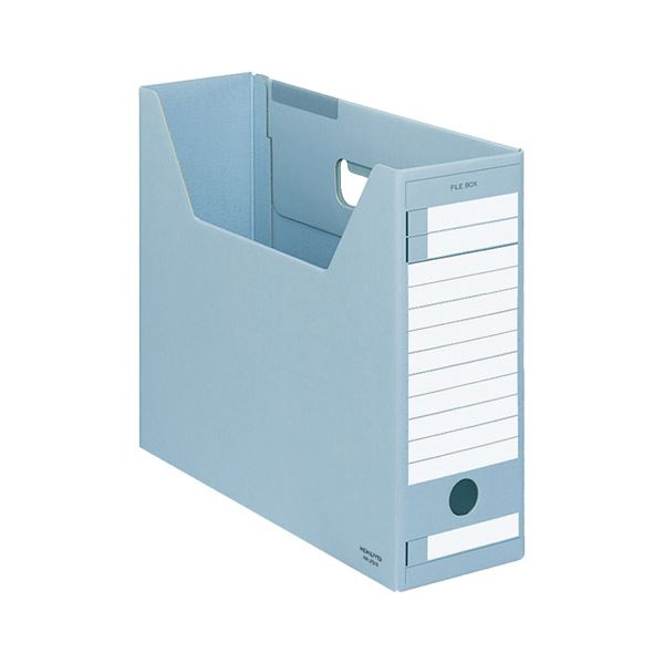 (まとめ) コクヨ ファイルボックス-FS(Dタイプ) A4ヨコ 背幅102mm 青 A4-LFD-B 1セット(5冊) 【×10セット】
