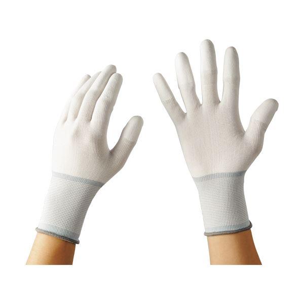 L 指先タイプ 【×10セット】 (まとめ)TANOSEE 13ゲージ 1パック(10双) ウレタンコート手袋