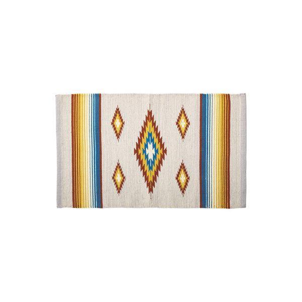 モダン ラグマット/絨毯 【170×230cm TTR-166A】 長方形 綿 インド製 〔リビング ダイニング フロア 居間〕