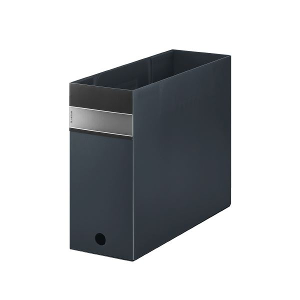 (まとめ)キングジム FV ボックスファイル(透明) FV4903T 黒 【×30セット】