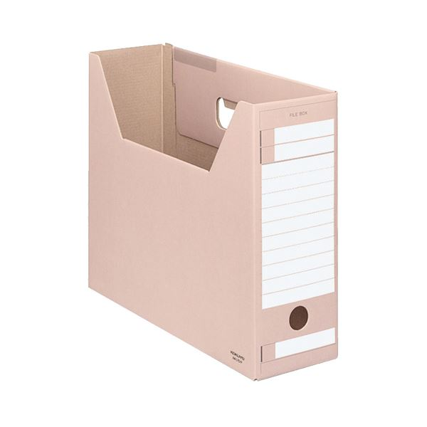 (まとめ) コクヨ ファイルボックス-FS(Dタイプ) A4ヨコ 背幅102mm ピンク A4-LFD-P 1セット(5冊) 【×10セット】