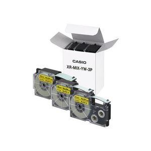 カシオ(CASIO) ネームランドテープセット 黄(黒文字) 9・12・18mm幅 3個入 【×10セット】