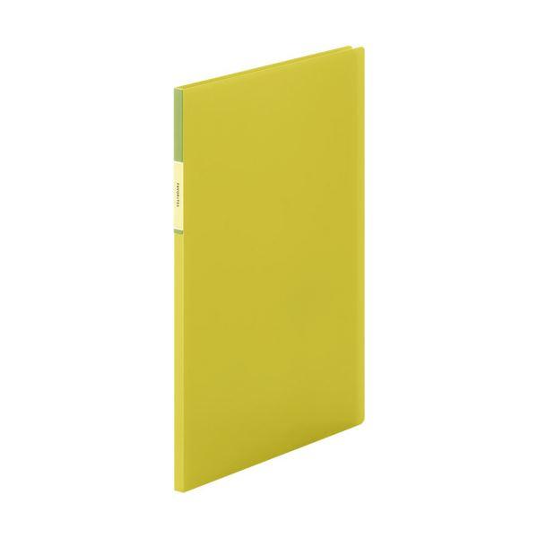 (まとめ) キングジム FAVORITESクリアーファイル(透明) A4タテ 10ポケット 背幅10mm 黄色 FV166THキイ 1冊 【×30セット】