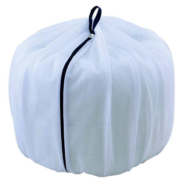 (まとめ) ふくらむ洗濯ネット/洗濯用品 【特大 70cm】 大容量 まとめ洗い 丸洗い ドラム式洗濯機対応 【×80個セット】
