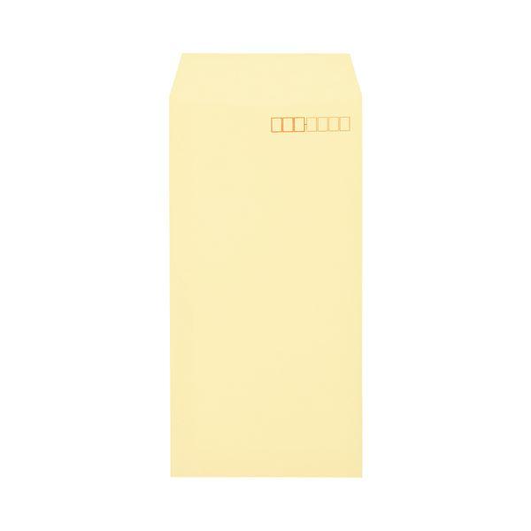 (まとめ)キングコーポレーション ソフトカラー封筒長3 80g/m2 〒枠あり クリーム 業務用パック 161309 1箱(1000枚)【×3セット】