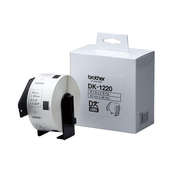 ブラザー BROTHER ピータッチ DKプレカットラベル 食品表示用 39×48mm 白/黒文字 DK-1220 1個(620枚) 【×10セット】