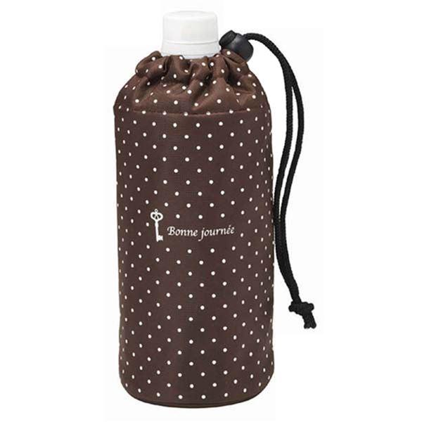 (まとめ) ペットボトルカバー/ペットボトルホルダー 【ドット&キー】 保冷・保温 500mlペットボトル用 【240個セット】