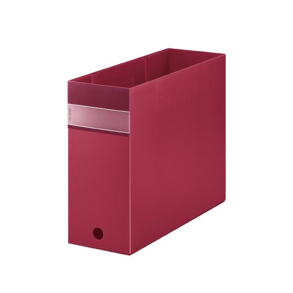 (まとめ)キングジム FV ボックスファイル(透明) FV4903T 赤 【×30セット】