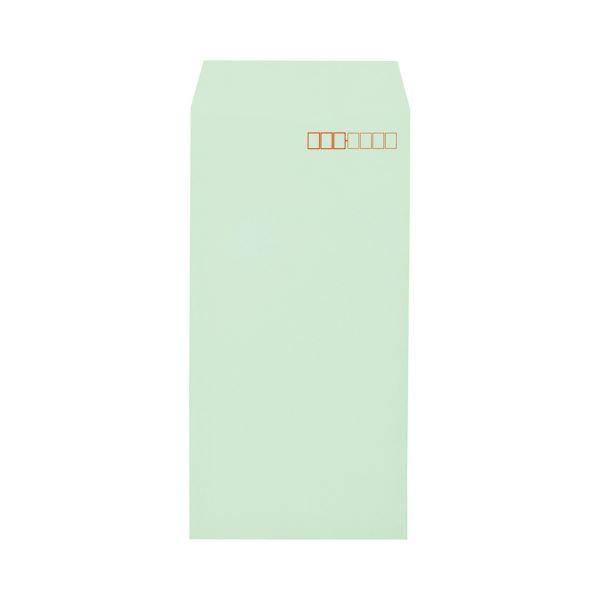 (まとめ)キングコーポレーション ソフトカラー封筒長3 80g/m2 〒枠あり グリーン 業務用パック 161308 1箱(1000枚)【×3セット】