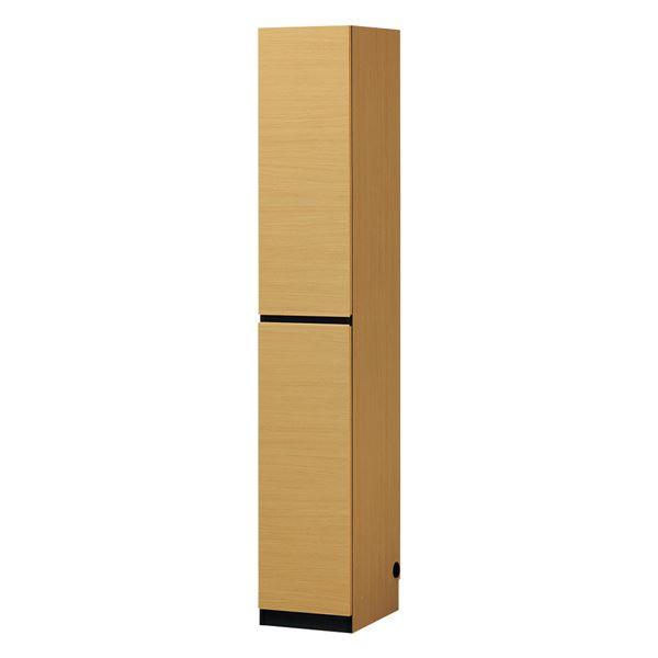壁面キャビネット/収納棚 【ナチュラル】 幅30cm 日本製 移動棚 免震バンド付き 組立式 POR-1830DNA 『ポルターレ』【代引不可】