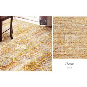 トルコ製 ラグマット/絨毯 【2畳 約160×225cm】 長方形 折りたたみ収納可 ウィルトン織り 『テミス RUG』 〔リビング〕