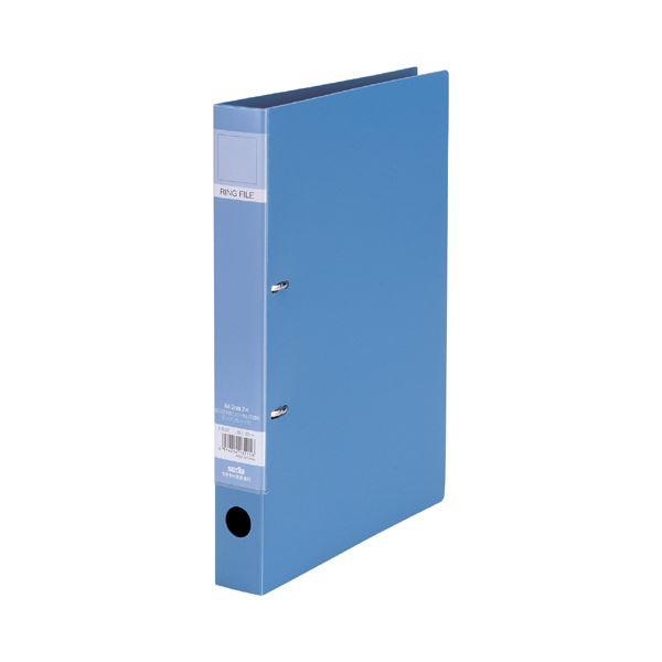(まとめ)セキセイ ロックリングファイル A4タテ2穴 220枚収容 背幅37mm ブルー F-522-10 1冊 【×20セット】