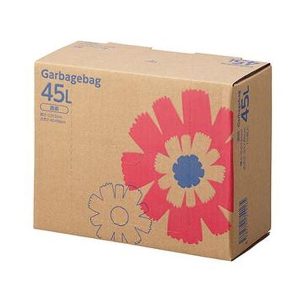 (まとめ)TANOSEE ゴミ袋 コンパクト 透明45L BOXタイプ 1箱(110枚)【×10セット】