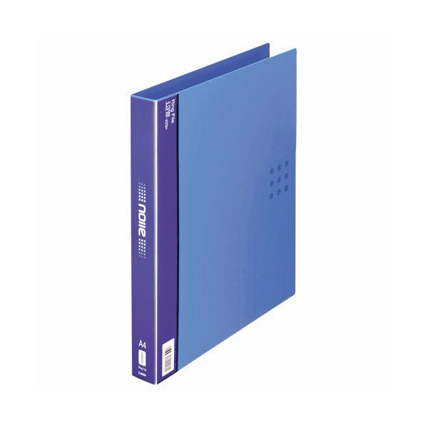 (まとめ) ライオン事務器 リングファイル(ノイル)A4タテ 2穴 210枚収容 背幅35mm ブルー RF-223n 1冊 【×30セット】