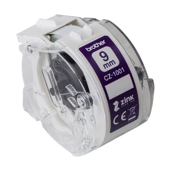 (まとめ) ブラザー 感熱フルカラーラベルプリンターピータッチカラー用ロールカセット 9mm幅×長さ5m CZ-1001 1個 【×10セット】