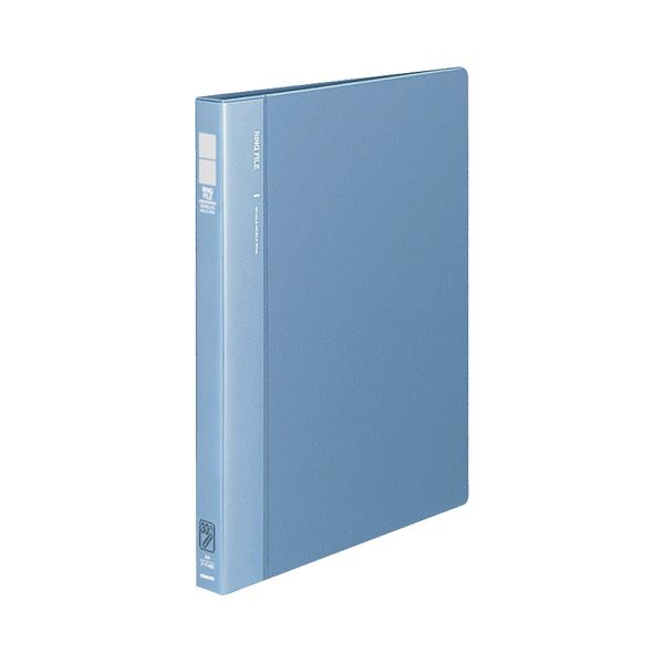 (まとめ) コクヨ リングファイル 発泡再生PP表紙A4タテ 30穴 120枚収容 背幅27mm 青 フ-F460B 1冊 【×10セット】