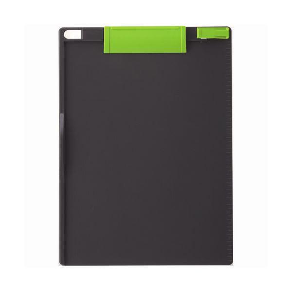 (まとめ) ソニック クリップボード A4タテ 緑×ダークグレー CB-307-GG 1枚 【×30セット】