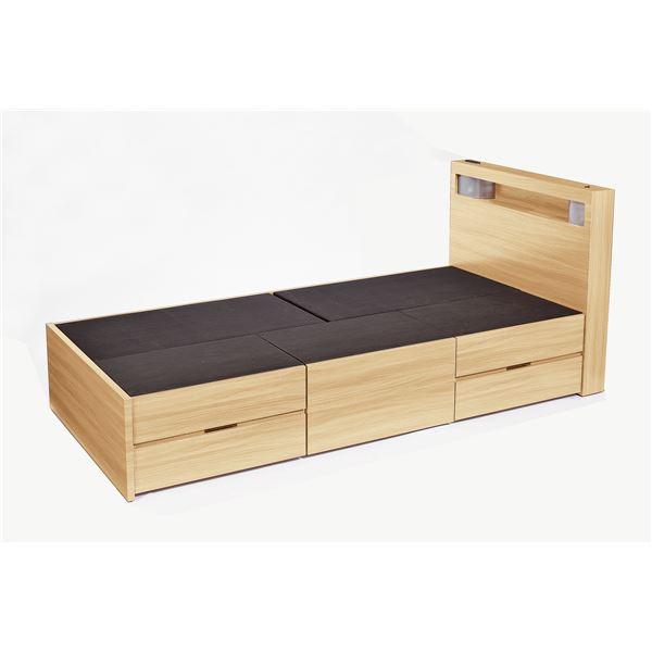 高梨産業 木製ベッド(引出し5個付) ナチュラル SLB-03【代引不可】