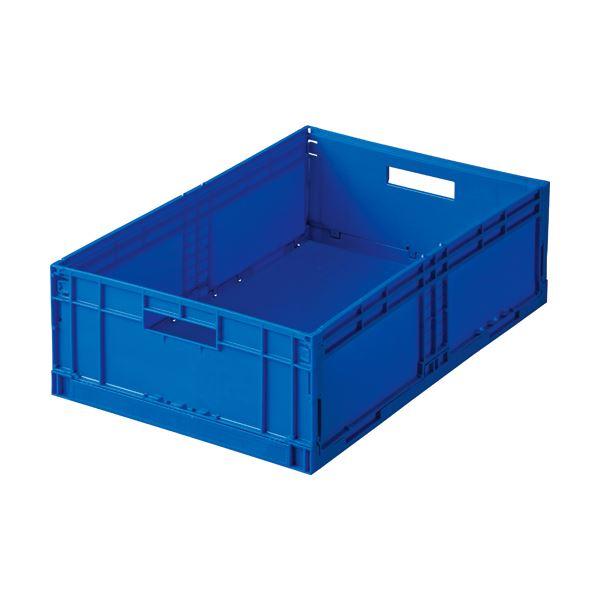 (まとめ) 岐阜プラスチック工業 折りたたみコンテナ F-BOX 26L F-BOX122G1 1台 【×5セット】