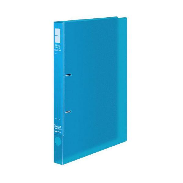 (まとめ) コクヨ リングファイル(スリムスタイル)クリアカラー A4タテ 2穴 180枚収容 背幅27mm ライトブルー フ-URFC420LB 1冊 【×30セット】