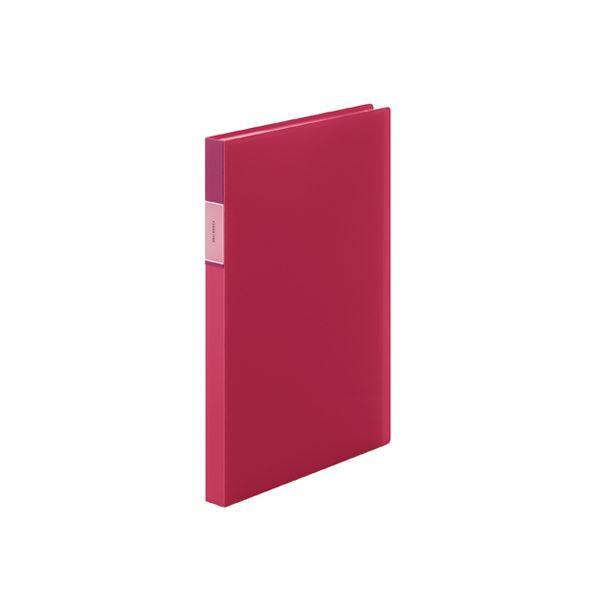 (まとめ) キングジム フェイバリッツ クリアーファイル 透明 A4 40P 赤【×20セット】