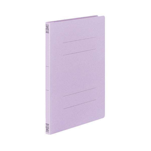 (まとめ)コクヨフラットファイルV(樹脂製とじ具) A4タテ 150枚収容 背幅18mm 紫 フ-V10V1セット(100冊:10冊×10パック)【×3セット】