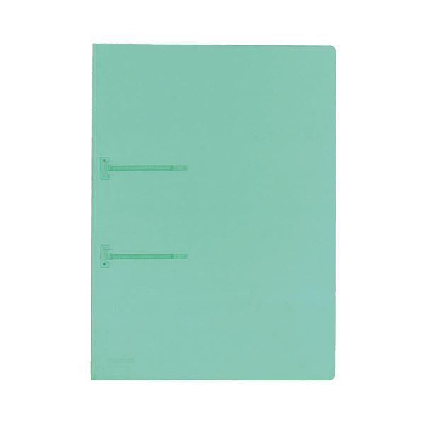 (まとめ) コクヨ ファスナーファイル(クリヤーカラー) A4タテ 2穴 90枚収容 緑 フ-P170G 1冊 【×100セット】