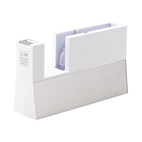 (まとめ) ニチバン テープカッター直線美 大巻用 白 TC-CB5 1台 【×5セット】