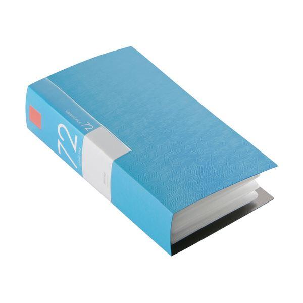(まとめ) バッファローCD&DVDファイルケース ブックタイプ 72枚収納 ブルー BSCD01F72BL 1個 【×10セット】