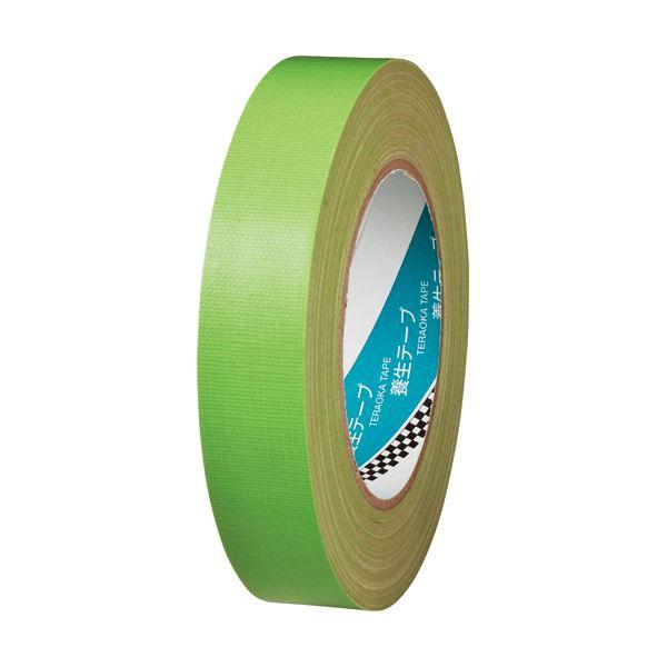 (まとめ) 寺岡製作所 養生布テープ 148A 25mm×25m 若葉 148AW25 1巻 【×30セット】