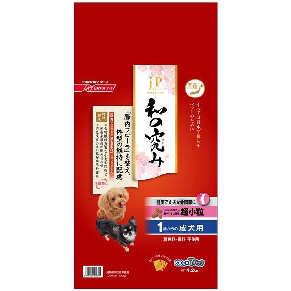 (まとめ)ジェーピースタイル 和の究み 超小粒 1歳からの成犬用 4.2kg(600g×7パック) (ペット用品・犬フード)【×3セット】